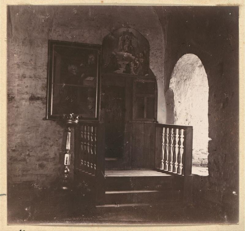 Келия Пр. Александра Свирского в Покровской церкви. 1909 год